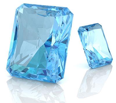 Aksesoris kalung cantik aquamarine