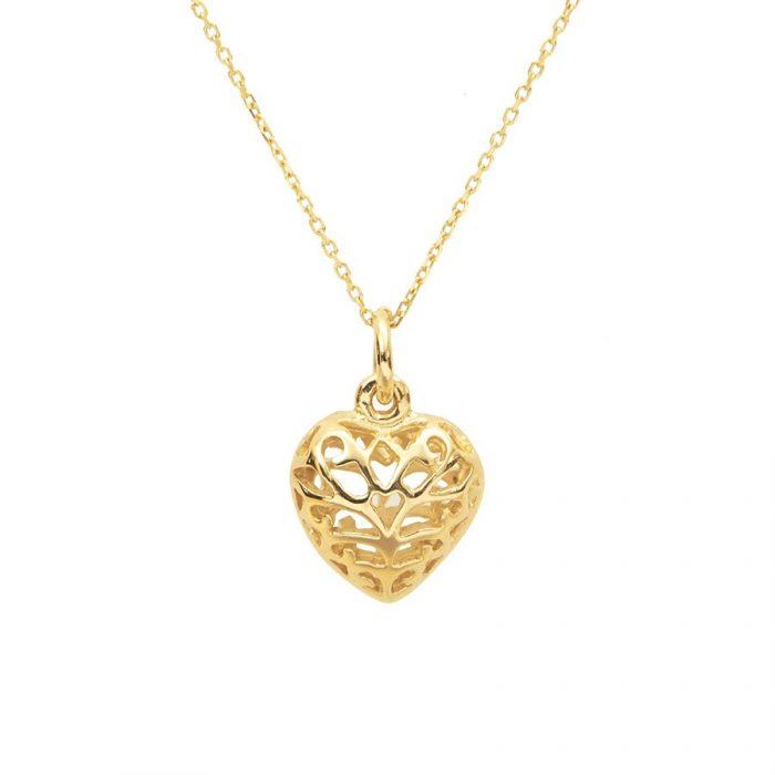 Beli kalung emas heart