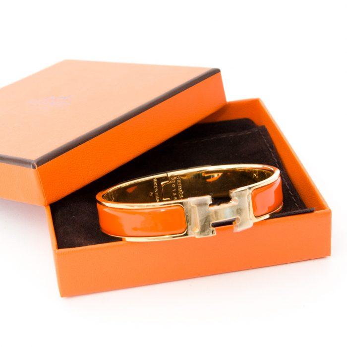 Harga gelang Hermes original orange