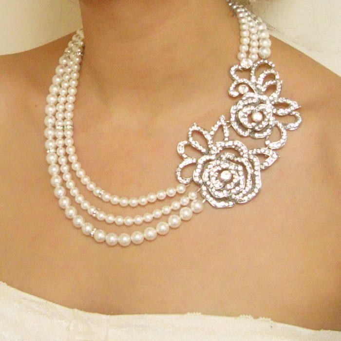 jual aksesoris kalung pearl