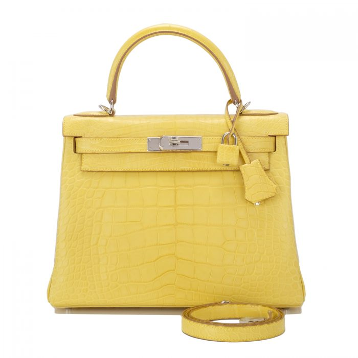 Model tas Hermes yellow
